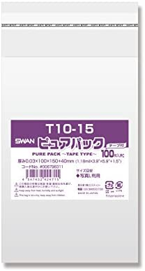 ヘイコ? OPP 봉투 (테이프 포함) 퓨어 팩 T10-15 1000 매 (100 장 × 10 봉) / Hayco OPP Bag (with Tape) Pure Pack T10-15 1000 sheets (100 x 10 bags)