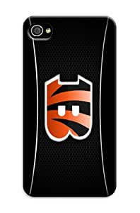 iphone 4s Protective Case, In A Class By Oneself Football iphone 4s Case/Cincinnati Bengals Designed iphone 4s Hard Case/Nfl Hard Case Cover Skin for iphone 4s