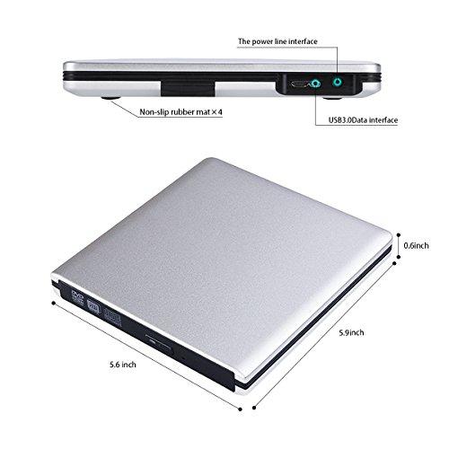USB 3.0 External DVD CD Drive Burner,TENNBOO Portable CD/DVD-RW Burner Writer Player for Laptop Notebook PC Desktop Computer,High Speed Data Transfer (Red)