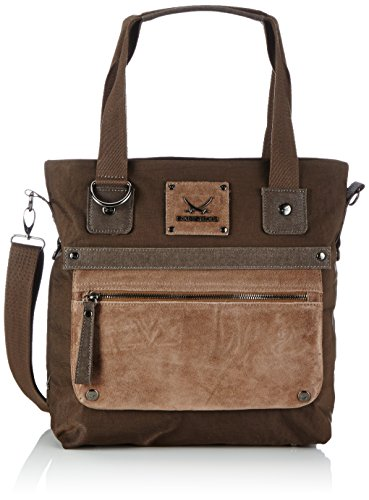 Sansibar Colla B-477 CO 75, Borsa a mano Donna Marrone (Braun (Coffee))