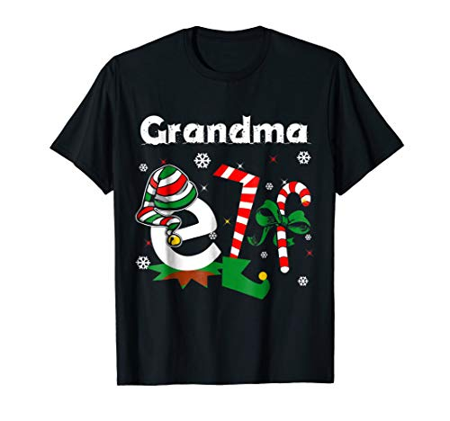 (Grandma ELF Funny Christmas T-Shirt   Santa Christmas)