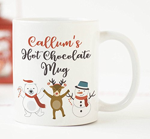 20 Personalised Christmas Cards - Personalised Christmas Mug, Christmas Eve Hot Chocolate Mug, Christmas Mug, Children's Mug, Child Christmas Gift, Mugs for Children, 11oz, 15oz, gift