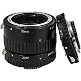 Macro Bagues-allonge automatiques professionnelles (3 pièces : 12mm 20mm 36mm) pour Nikon D4 D800 D800E D3200 D3X S