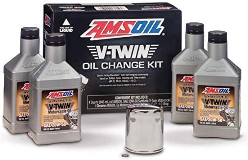 AMSOIL VTWIN Oil Change KIT 20W50 Full Synthetic Motorcycle