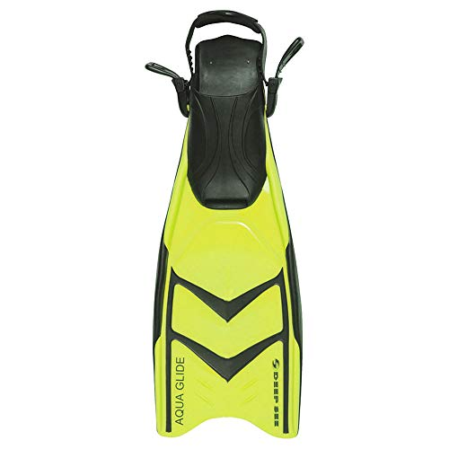 Open Heel Snorkeling Fins - Deep See Aqua Glide Open-heel Snorkeling Fins 5-9 Yellow