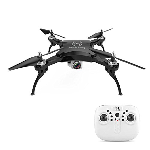 Littleice YILE S16 Selfie Foldable Drone 2.4G 4CH Altitude Hold With HD Camera WIFI FPV Remote Control RC Quadcopter (Black) by Littleice