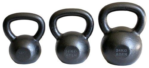 Ader Premier Kettlebell Set- (12, 16, 24 Kg) by Ader Sporting Goods