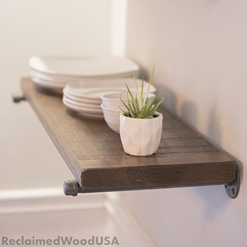Made in America - Price is per shelf, Heavy duty, Reclaimed Wood Floating Shelf
