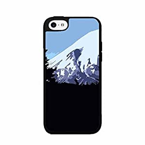 Cute painting Animated Mountains TPU RUBBER SILICONE Phone Case Back Cover iPhone 5 5s BY EPPOR