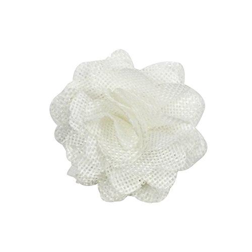 Allydrew Burlap Flower Embellishment Burlap Roses for Weddings (20pcs), White by allydrew