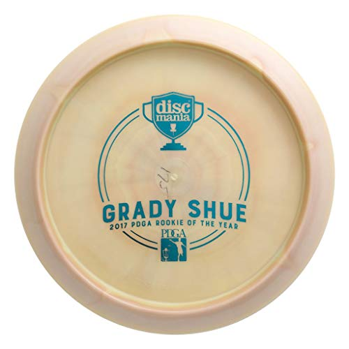(Discmania Limited Edition Triumph Series Grady Shue 2017 PDGA ROTY Bottom Stamp Swirly S-Line PD Power Driver Distance Driver Golf Disc [Colors May Vary] - 173-175g)