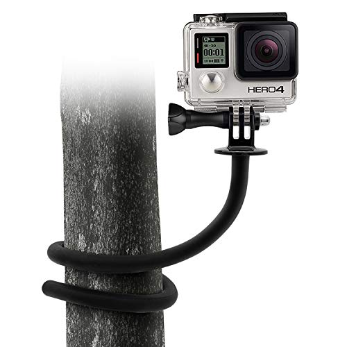 Aobelieve Flexible Twist Mount 16.5-Inch Adjustable Gooseneck for GoPro HERO7, Fusion, HERO6, Hero, HERO5, HERO5 Session, HERO4, Hero+, and Other Action Cameras