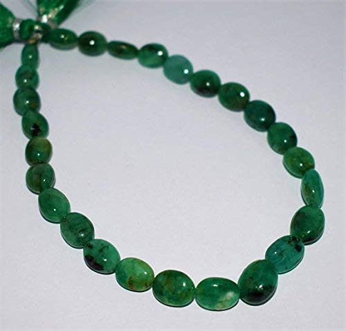 Natural Emerald Smooth Oval Shape, Emerald Oval Beads, Emerald Beads, Emerald Plain Oval Nuggets, 9