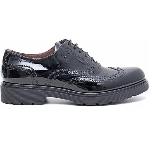 de cordones mujer NERO Giardini Nero para Zapatos VERNICE qHxanwR