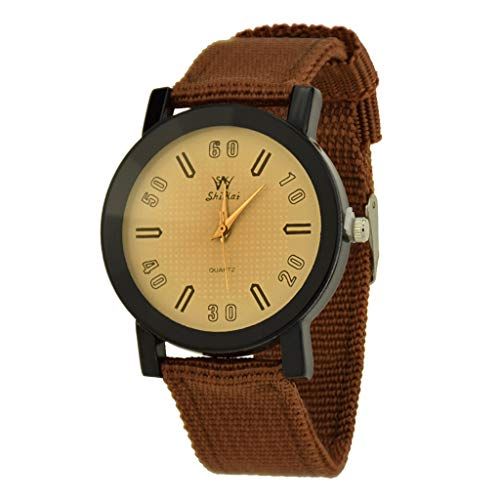 (LUXISDE Watch Women SHIKAI Ladies Leather Strap Creative Gift Quartz Watch ZYBSK-56 Lady Collection Brown)