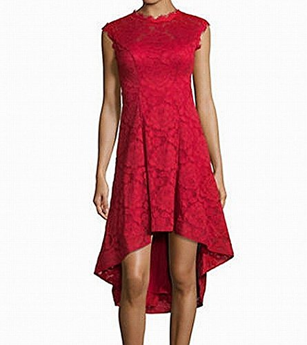 amp; Sheath Reds Lace Adam Betsy Floral Dress Low High Women's d7awxqwU