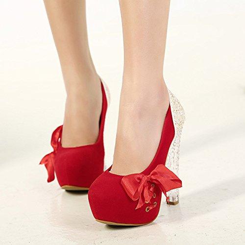 red singles femeninos grueso de el primavera cosido cinta europea de femeninos singles y tacón y raso zapatos de americana verano La zapatos 8xU1nCWqq