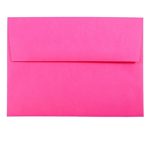 "JAM Paper A6 Invitation Envelopes- 5 1/4"" x 7 1/4"" - Brite H"