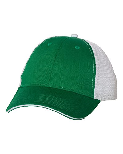 (SNAP SKULL Snapskull Unisex Sandwich Trucker Cap Snapback Hat Multicolor (Kelly Green/White))