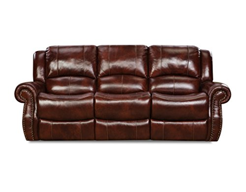Cambridge 98528DRS-OB Telluride Leather Double Reclining Sofa (Telluride Leather)
