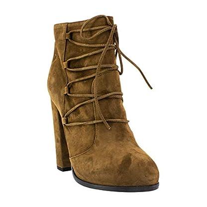 GHFJDO Women Summer Pointed Suede High Heel,Fashion Buckle Stilettos Dress//Party//Pumps,Orange,36EU