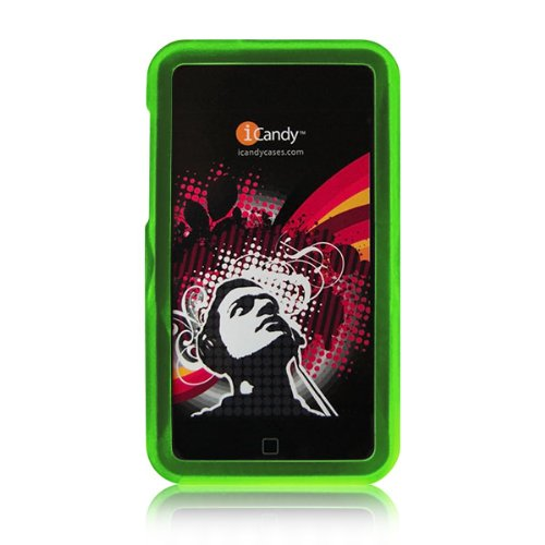 (iCandy Rave Polycarbonate Cases for 2nd & 3rd Generation iPod touch 2G 3G - GREEN)