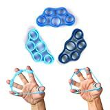 Cheap AIWANK Finger Stretcher Hand Resistance Bands for Forearm Exercise/Guitar Finger Strengtheners/Rock Climbing Grips-3 Resistance Levels : Kiss Elbow Pains Goodbye