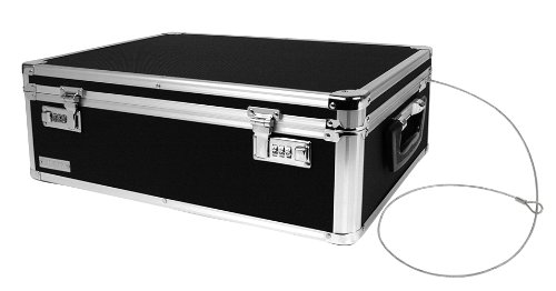 Vaultz Locking Storage Box, 6.5 x 19 x 13.5 Inches, Black (VZ00323) (Ideastream Vaultz Cash Box)