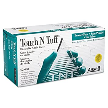 Image result for Touch n Tuff Disposable Nitrile Powdered Gloves