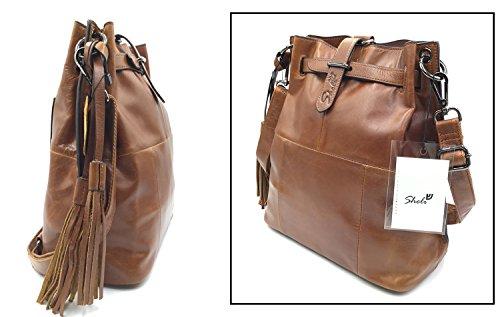 Frange Donne Convertibile Hobo Unico Design Zaino Marrone In Pizzo Crossbody Occidentali Di Pelle Sheli Bag q104Rwxx