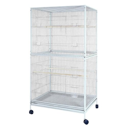 A&E Cage Co. 4030FL White Flight Bird Cage, X-Large/40 x 30