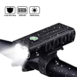 Elivern 1000LM LED Bike Headlight,3 Modes,500 Meters Lighting Distance,2600 mAh USB Rechargeable Lithium Battery,6H High Mode Working Time,IPX5 Waterproof,360 Degree Rotatable Aluminum Alloy Headlight