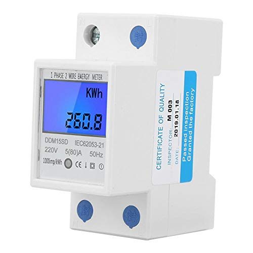 Zerone 5-80A DDM15SD LCD Backlight Digital Display Single Phase Electronic Energy KWh Meter