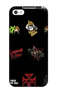 Personalized For SamSung Galaxy S5 Mini Case Cover Cell phone Skin Finger Death Punch Logo Skull Sign Blood Black