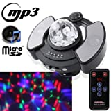 stage lighting LY-308, Multifunction RGB Crystal Magic Ball with MP3 Music Player Function / 128M Micro SD Card/Micro USB Card Reader/Remote Controller (Maximum Support 16G Memory)