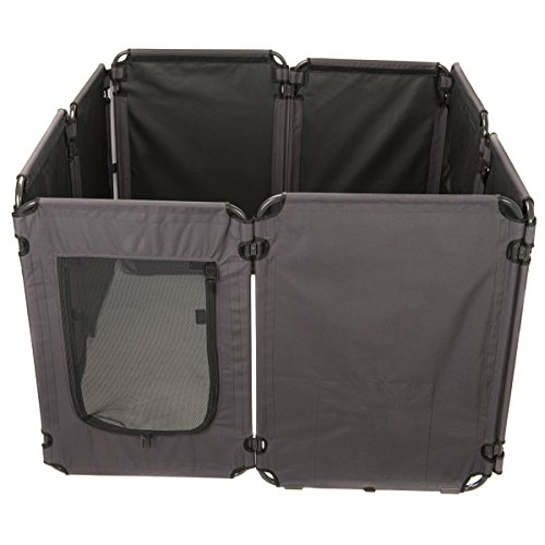 Favorite 46″ Deluxe Large Foldable Outdoor Indoor Dog Playpen with Sunshade, 24″H