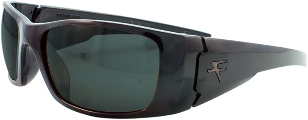 Grey 66 mm Fatheadz Eyewear Mens Nitro V2.0 FH-V122-2RD Polarized Wrap Sunglasses