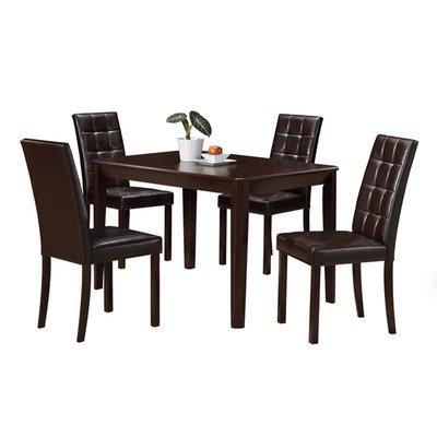 Monarch Specialties 5 Piece Cappuccino Veneer 32x48 Dining Room Set - Cappuccino 5 Piece