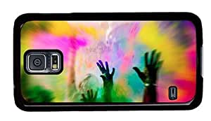 Hipster Samsung Galaxy S5 Case sale colors of life PC Black for Samsung S5