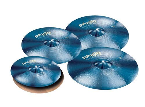 Paiste Color Sound 900 Series Medium Cymbal Set Extended Even w/Free 16'' Crash (Blue) by Paiste