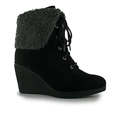 Amazon.com | Kangol Womens Marina Wedge Boots High