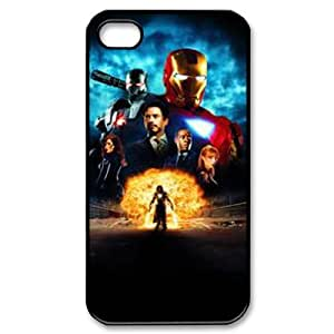 XOXOX Phone case Of Iron Man Cover Case For Iphone 4/4s [Pattern-3]