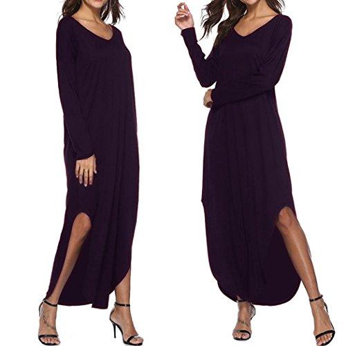 80e9c584206613 ... Taschen Mit Lange Casual Kleid Strand Langarm Bekleidung Amuster Lose  Abend Partykleid Abendkleid Split Kleider Maxikleid ...