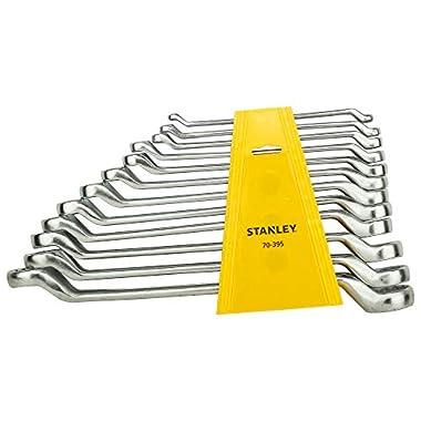 STANLEY 70-394E Matte Finish Shallow Offset BI HXRing Spanner Set (12-Pieces), Chrome 8