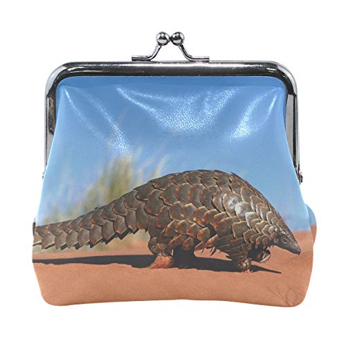 Rh Studio Coin Purse Armadillo Sand Crawl Print Wallet Exquisite Clasp Coin Purse Girls Clutch Handbag