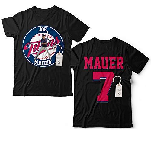 Joe Minnesota No. 7 Mauer Baseball Catcher Baseman Jersey 2 Sides Printing Customized Handmade T-Shirt Hoodie/Long Sleeve/Tank Top/Sweatshirt
