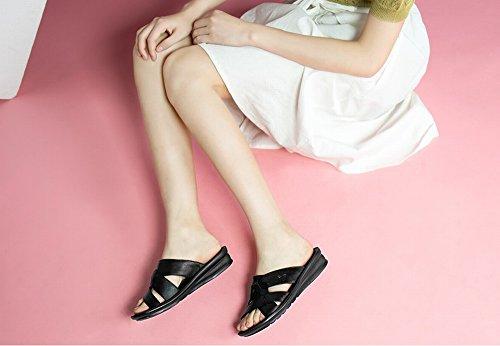Sencillas UN Zapatillas Playa Suaves Y de Cómodas Color DIDIDD de Mujer Ocasionales para Sólido Zapatillas 39 qawHFxv