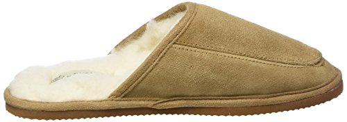 Zapatilla Sole with Marrón Rubber Unisex Lining Wool adulto SNUGRUGS Suede Camel baja and YqT00x