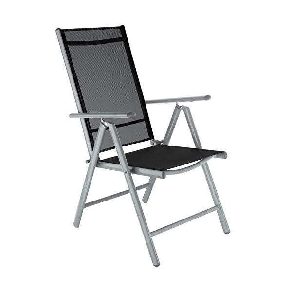 TecTake Alluminio set mobili da giardino 4+1 tavolo sedie pieghevole arredo esterno - disponibile in diversi colori… 3 spesavip