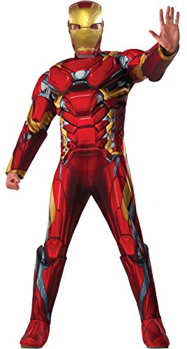 Iron Man Costume 38-40 (UHC Men's Captain America Civil War Iron Man Outfit Movie Theme Fancy Costume, STD (36-42))